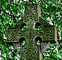 Celtic Cross in the Kirkyard of St. Nicholas in Aberdeen, Scotland