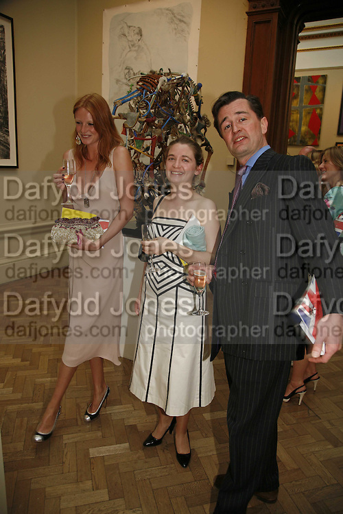 Olivia Inge, Lucy Hawkes and Peter Laverack, Summer Exhibition preview party. Royal Academy. Piccadilly. London. 7 June 2006. ONE TIME USE ONLY - DO NOT ARCHIVE  © Copyright Photograph by Dafydd Jones 66 Stockwell Park Rd. London SW9 0DA Tel 020 7733 0108 www.dafjones.com