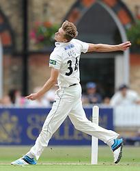 Craig Miles of Gloucestershire bowls - Photo mandatory by-line: Dougie Allward/JMP - Mobile: 07966 386802 - 08/07/2015 - SPORT - Cricket - Cheltenham - Cheltenham College - LV=County Championship 2