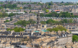 View over rooftops of Georgian houses in Edinburgh New Town, Scotland, UK