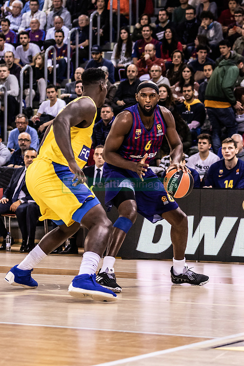 November 1, 2018 - Barcelona, Barcelona, Spain - Chris Singleton, #6 of FC Barcelona Lassa in actions during EuroLeague match between FC Barcelona Lassa and Maccabi Fox Tel Aviv  on November 01, 2018 at Palau Blaugrana, in Barcelona, Spain. (Credit Image: © AFP7 via ZUMA Wire)