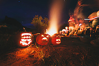 Jacko Lanterns at camp in the San Rafael Swell.