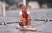 FISA World Cup 1990's, at Lucerne International Regatta, Lake Rotsee, Lucerne SWITZERLAND and Henley Royal Regatta..HRR - Silken Laumann CAN W1X.FISA World cup events Lucerne and HRR Pictures from the first World Cup events, Men's and Women's singles 1990/91 FISA World Cup Lucerne and