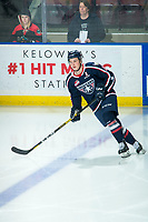 KELOWNA, BC - FEBRUARY 12: Blake Stevenson #18 of the Tri-City Americans warms up on the ice against the Kelowna Rockets at Prospera Place on February 8, 2020 in Kelowna, Canada. (Photo by Marissa Baecker/Shoot the Breeze)