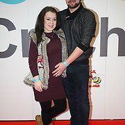 London,England, UK ; 19th Feb 2016 : Dani Harmer with Partner Simon attend the Baby Show 2016 at Excel London. Photo by See Li
