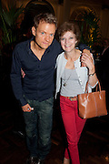 MARC WARREN; GILLY SANGUINETTI, Aldwych theatre's Cool Hand Luke first night party. Waldorf Hilton. London. 3 October 2011. <br /> <br />  , -DO NOT ARCHIVE-© Copyright Photograph by Dafydd Jones. 248 Clapham Rd. London SW9 0PZ. Tel 0207 820 0771. www.dafjones.com.