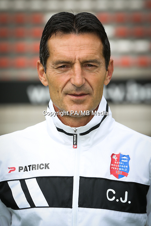 head coach Cedomir Janevski pictured during the 2015-2016 season photo shoot of Belgian first league soccer team Royal Mouscron Peruwelz, Thursday 16 July 2015 in Mouscron.