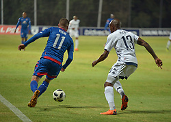 The ABSA Premiership match that took place at the Bidvest Wits stadium on Saturday night between Bidvest  Wits F.C.  SS Unt James Keene and Wits Sfiso Hlanti<br /> Picture: Timothy Bernard African News Agency/ANA