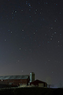 Campbell Hall, New York - Stars shin in the night sky above a barn on Dec. 14, 2012. ©Tom Bushey / The Image Works