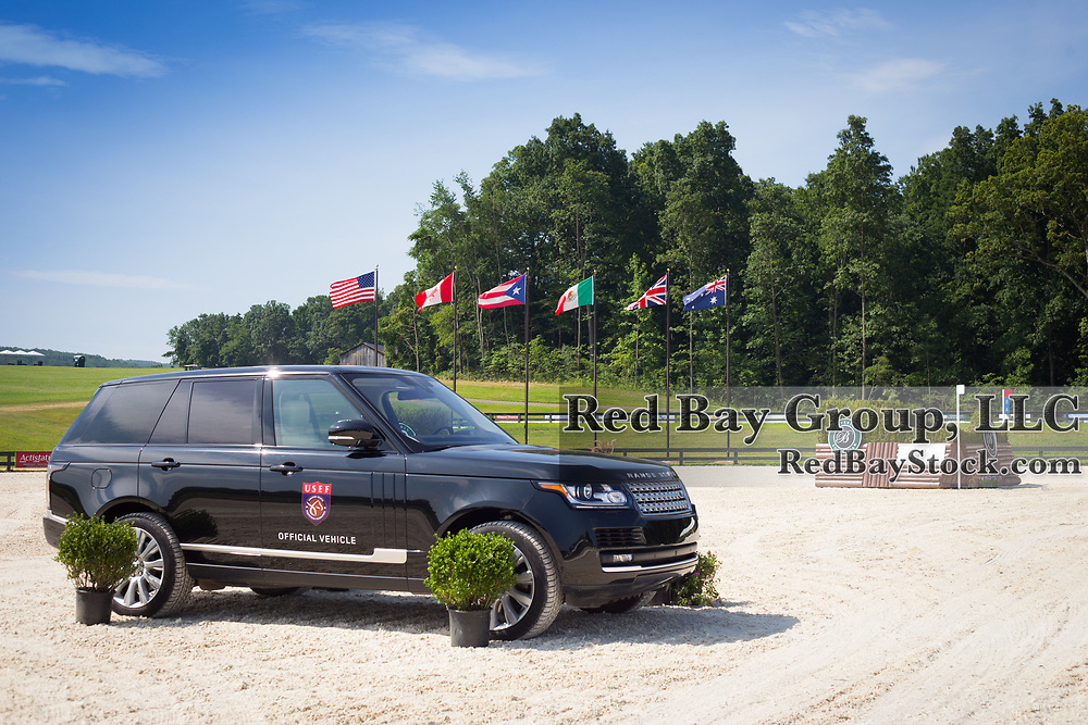 A general view of atmosphere at the 2016 Land Rover Great Meadow International on Thursday, July 7, 2016, at the Great Meadow Foundation in The Plains, VA. with the 2016 Range Rover.