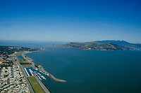 AErial view Golden Gate Bridge and San Francisco Bay California