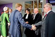 NIJKERK - Koning Willem-Alexander en Koningin Máxima zijn op zondagmiddag 14 september aanwezig bij de viering van het tienjarig bestaan van de Protestantse Kerk in Nederland (PKN). De viering vindt plaats in kerkgebouw De Fontein in Nijkerk. COPYRIGHT ROBIN UTRECHT