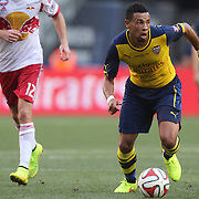 Francis Coquelin, Arsenal, in action during the New York Red Bulls Vs Arsenal FC,  friendly football match for the New York Cup at Red Bull Arena, Harrison, New Jersey. USA. 26h July 2014. Photo Tim Clayton