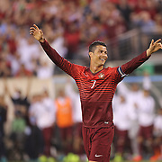 Cristiano Ronaldo, Portugal, celebrates a goal during the Portugal V Ireland International Friendly match in preparation for the 2014 FIFA World Cup in Brazil. MetLife Stadium, Rutherford, New Jersey, USA. 10th June 2014. Photo Tim Clayton