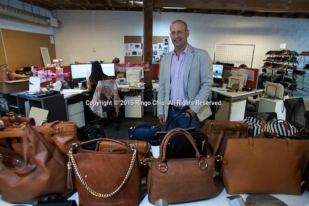 Andy Solomon, chief executive of shoe brand Sole Society.<br /> (Photo by Ringo Chiu/PHOTOFORMULA.com)