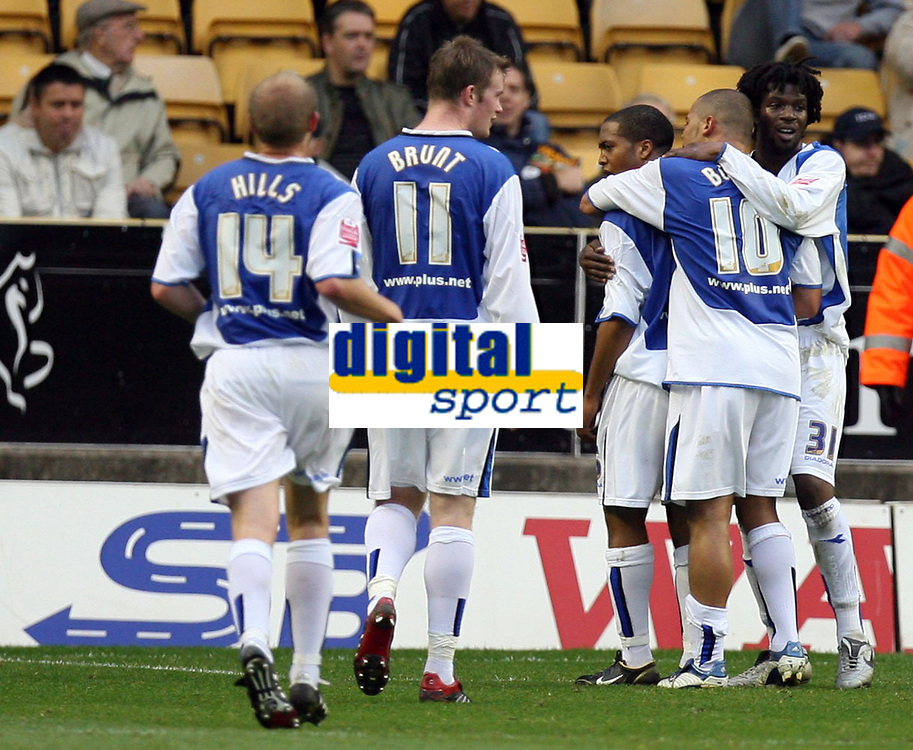 Photo: Rich Eaton.<br /> <br /> Wolverhampton Wanderers v Sheffield Wednesday. Coca Cola Championship. 28/10/2006. Wade Small of Wednesday celebrates after equalizing in the first half  to make the score 1-1