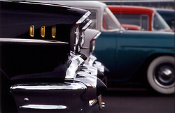 50's vintage automobiles, profile of front end
