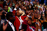 The DNC Convention in Denver will make Obama their candidate.<br /> <br /> <br /> <br /> Roll call counting the votes of the Presidential candidates. New York Senator Hillary Clinton announces the votes from New York State, and plead to make the rest of the votes for Obama by acclamation.