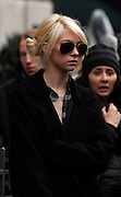 Taylor Momsen appears on the set of Gossip Girl while taping on the Upper East Side in New York City on November 12, 2009.