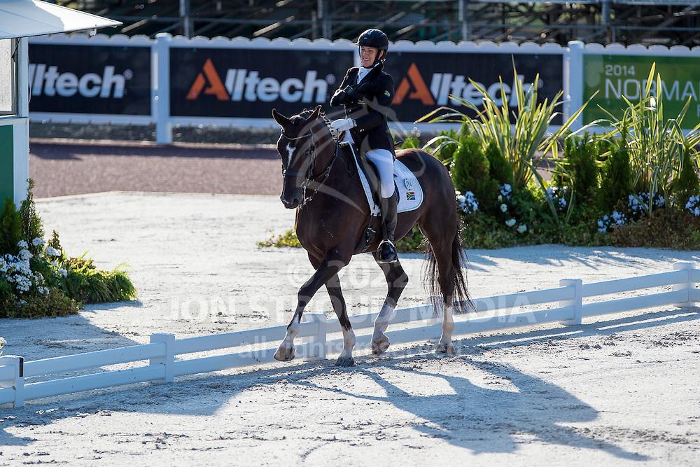 Philippa Johnson Dwyer, (RSA), Verdi - Team Competition Grade IV Para Dressage - Alltech FEI World Equestrian Games&trade; 2014 - Normandy, France.<br /> &copy; Hippo Foto Team - Jon Stroud <br /> 25/06/14