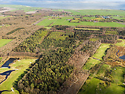 Nederland, Friesland, Gemeente Gaasterlan-Sleat, 16-04-2012; Gaasterland, onderdeel van Nationaal Landschap Zuidwest Fryslan. Lycklemabosch (Lycklemabos), Golfclub Gaasterland, Nijemirdum (Nijemardum)..Southwest Friesland..luchtfoto (toeslag), aerial photo (additional fee required).foto/photo Siebe Swart