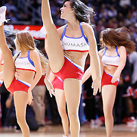 24 November 2013: The Clippers Spirit perform during the Los Angeles Clippers 121-82 victory over the Chicago Bulls at the Staples Center, Los Angeles, California, USA.