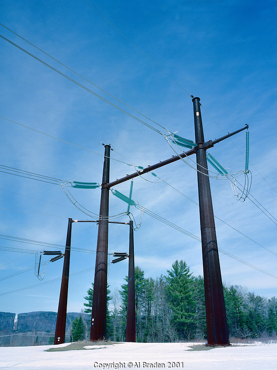 High Voltage DC lines from James Bay to US power grid at Monroe, NH