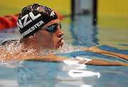 Moss Burmester competes in the Men's 100m Butterfly final at the New Zealand Swimming World Championship Trials at the West Aquatic Centre, Auckland, New Zealand, on Wednesday 13 December 2006. Photo: Michael Bradley/PHOTOSPORT