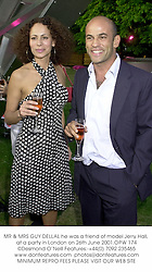 MR & MRS GUY DELLAL he was a friend of model Jerry Hall, at a party in London on 26th June 2001.OPW 174