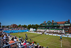 LIVERPOOL, ENGLAND - Saturday, June 17, 2017: A general view of the court as Marcus Willis (GBR) takes on Robert Kendrick (USA) during Day Three of the Liverpool Hope University International Tennis Tournament 2017 at the Liverpool Cricket Club. (Pic by David Rawcliffe/Propaganda)