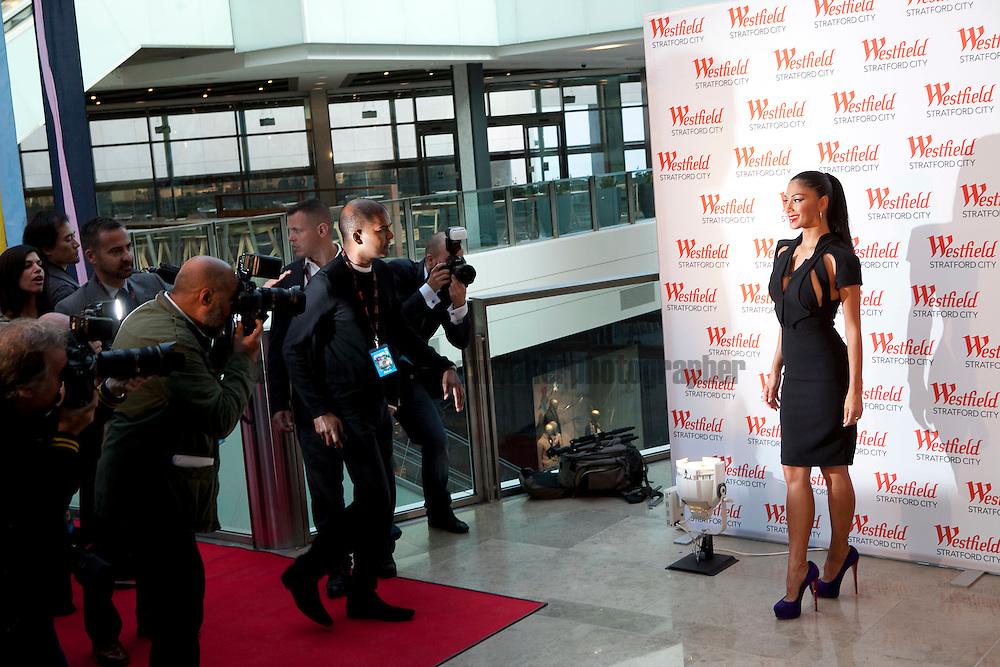 Job Ref: The Opening of Westfield Stratford City, Stratford, East London..Nicole Scherzinger helps celebrate the opening.. .13th September 2011.Andrew Baker Photographer.07977074356