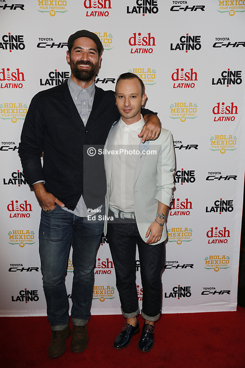 LOS ANGELES, CA - JUNE 7 Manuel Garcia-Rulfo and Miguel Sagaz attend the 9th Annual Hola Mexico Film Festival Opening Night at the Regal LA LIVE in downtown Los Angeles, on June 7, 2017 in Los Angeles, California. Byline, credit, TV usage, web usage or linkback must read SILVEXPHOTO.COM. Failure to byline correctly will incur double the agreed fee. Tel: +1 714 504 6870.