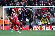 Picture by Daniel Chesterton/Focus Images Ltd +44 7966 018899.16/03/2013.Rickie Lambert of Southampton scores his side's second goal with a deflected free kick during the Barclays Premier League match at the St Mary's Stadium, Southampton.