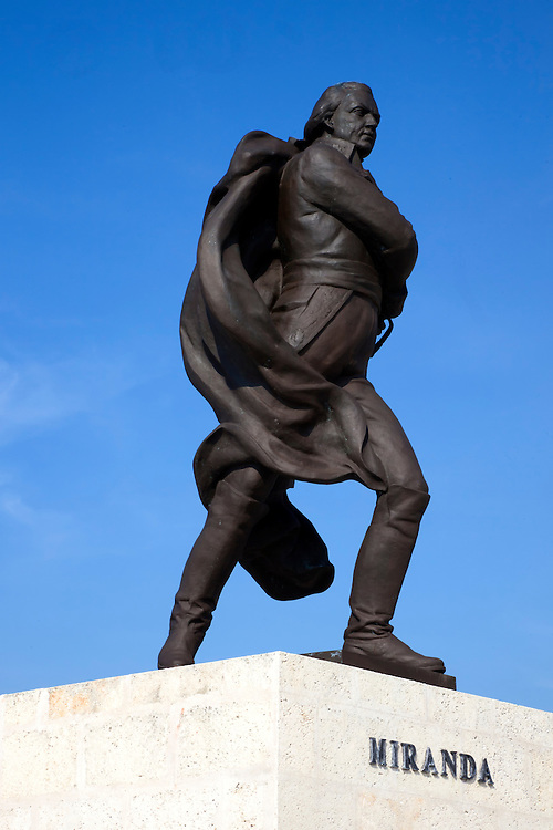 Statue of Francisco de Miranda, Havana Malecon, Cuba.