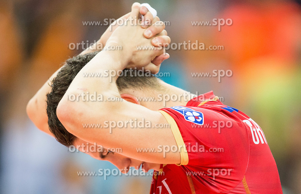 Jenia Grebennikov #2 of France reacts during volleyball match between National teams of France and Bulgaria in 2nd Semifinal of 2015 CEV Volleyball European Championship - Men, on October 17, 2015 in Arena Armeec, Sofia, Bulgaria. Photo by Vid Ponikvar / Sportida