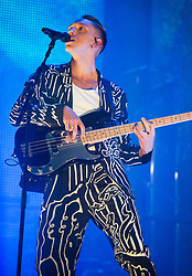 Oliver Sim of The xx performs on stage on day 2 of All Points East festival in Victoria Park in London, UK. Picture date: Saturday 26 May 2018. Photo credit: Katja Ogrin/ EMPICS Entertainment.