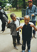 Little kids in a park, UK, 2000's