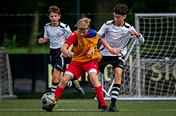 Roan #7 of VV Maarssen  in action. VV Maarssen O14-1 played a friendly game against CDW O15-2. Maarssen won 9-2 on July 11, 2020 at Daalseweide sports park Maarssen.