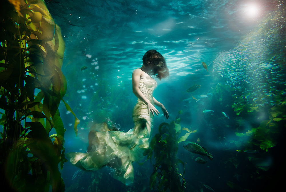 """""""UnderCurrents"""" A surrealistic underwater photo series by Nate Dorn."""