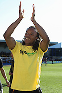 Picture by David Horn/Focus Images Ltd +44 7545 970036.20/04/2013.Edgar Davids , player/manager of Barnet after the npower League 2 match at Underhill Stadium, London.