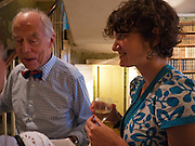TOM STACEY; LARA FEIGEL, Pen Summer party. 128 Kensington Church St, Notting Hill, London 14 July 2010. <br /> <br /> <br /> -DO NOT ARCHIVE-© Copyright Photograph by Dafydd Jones. 248 Clapham Rd. London SW9 0PZ. Tel 0207 820 0771. www.dafjones.com.
