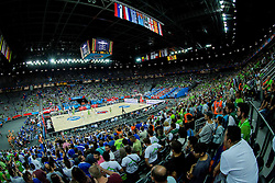 Arena during basketball match between Slovenia vs Greece at Day 5 in Group C of FIBA Europe Eurobasket 2015, on September 9, 2015, in Arena Zagreb, Croatia. Photo by Vid Ponikvar / Sportida
