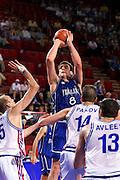 Francia 01/07/1999<br /> Campionati Europei di Basket Francia 1999<br /> Italia-Russia<br /> Denis Marconato