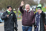 FGR fans arrive at the ground during the EFL Sky Bet League 2 match between Yeovil Town and Forest Green Rovers at Huish Park, Yeovil, England on 8 December 2018.