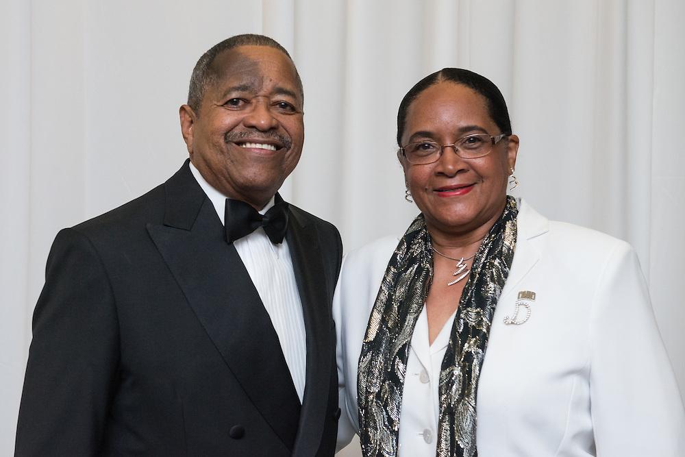 Ohio University President, Dr. Roderick McDavis, and his wife, Deborah McDavis, attend the 2016 Black Alumni Reunion Gala held at the Baker Center Ballroom on Friday, September 16, 2016.