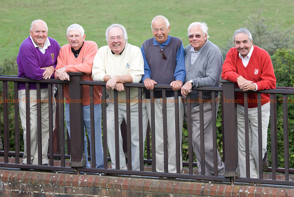 JAMES BOARDMAN / 07967642437.West Hove Golf Club members L-R Peter Rodger, Hani Brown, Ray Barontini, Peter Hail, Don Thatcher and Jeff Evans. .