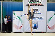 Federica Pettinelli from Armonia D'Abruzzo team during the Italian Rhythmic Gymnastics Championship in Padova, 25 November 2017.