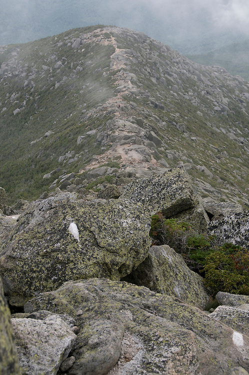 Appalachian trail at Mount Katahdin in Baxter State Park, Maine