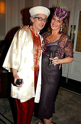 SIMONE ORTIZ-PATINO and FRANCESCA HABSBURG - ARCHDUCHESS OF AUSTRIA at Andy & Patti Wong's Chinese New Year party to celebrate the year of the Rooster held at the Great Eastern Hotel, Liverpool Street, London on 29th January 2005.  Guests were invited to dress in 1920's Shanghai fashion.<br />