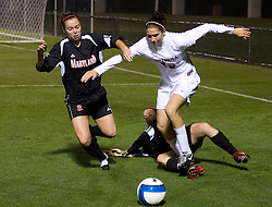 Virginia Cavaliers D Alex Singer (19)..The #3 ranked Virginia Cavaliers Women's Soccer team defeated the Maryland Terrapins 3-0 at Klockner Stadium in Charlottesville, VA on October 25, 2007.
